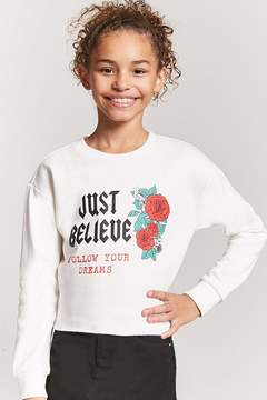 Forever 21 Girls Follow Your Dreams Sweatshirt (Kids)