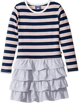 Toobydoo French Stripe Ruffle Skirt Dress Girl's Dress