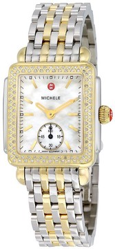 Michele Deco 16 White Mother of Pearl Dial Ladies Watch