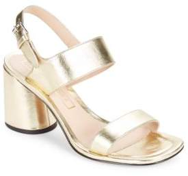 Marc Jacobs Emilie Leather Sandal Heels
