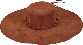 San Diego Hat Company Faux Suede Floppy Wide Brim Hat CTH8034 (Women's)