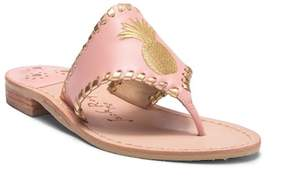 Jack Rogers Pineapple Embroidered Thong Sandal