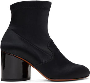 Robert Clergerie Black Satin Koss Boots