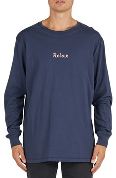 Barney Cools Men's Relax Embroidered Long Sleeve T-Shirt