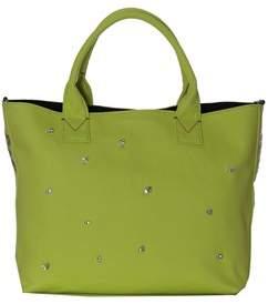 Pinko Women's Green Cotton Handbag.