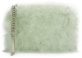 Nina Ricci feathered clutch bag