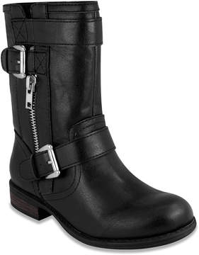 Rampage Back Smooth Panel Buckle-Accent Boot