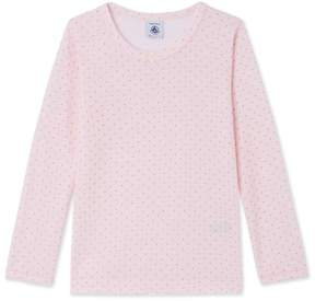 Petit Bateau Girls long-sleeved T-shirt in wool and cotton