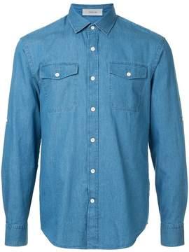 Cerruti patch-pocket denim shirt
