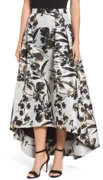 Eliza J Women's Metallic Floral High/low Skirt