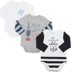 Burberry Set Of 3 Cotton Jersey Bodysuits