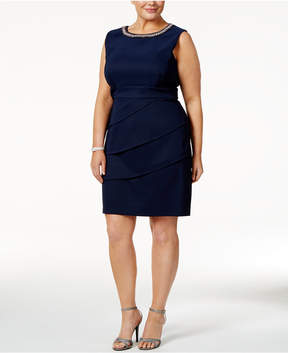 Connected Plus Size Embellished Dress
