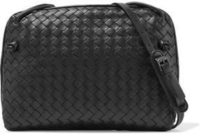 Bottega Veneta Messenger Small Intrecciato Leather Shoulder Bag - Black