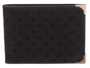 Fendi Leather-Trimmed Canvas Wallet
