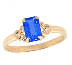 Ice 10K Gold Girls' September Birthstone Ring (Size 4)
