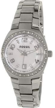 Fossil Women's AM4141 Glitz Stainless Steel Watch, 28mm