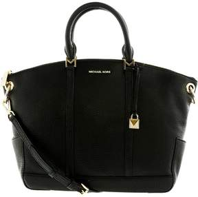 Michael Kors Women's Large Beckett Small Pebble Top Zip Leather Shoulder Bag Satchel - Black - BLACK - STYLE