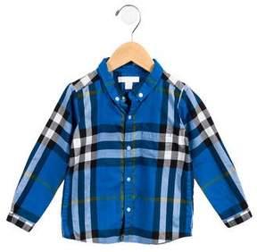 Burberry Boys' Checked Button-Up Shirt