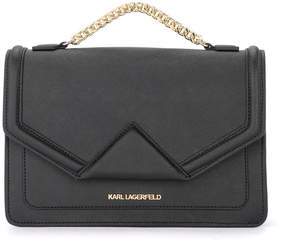 Karl Lagerfeld Klassic Black Leather Handbag