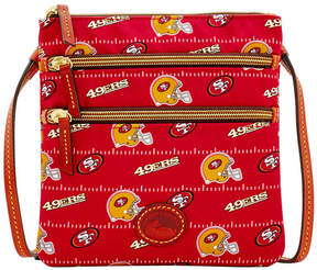 Dooney & Bourke San Francisco 49ers Nylon Triple Zip Crossbody - RED - STYLE