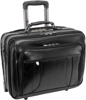 McKlein McKleinUSA Lasalle 15.6 Leather Wheeled Laptop Overnight w/ Removable Briefcase