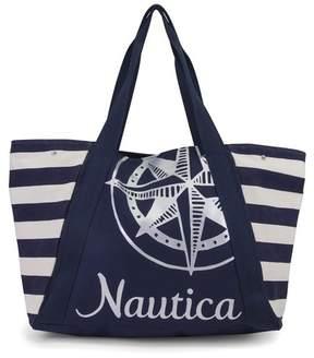 Nautica Front Logo Print Tote Bag
