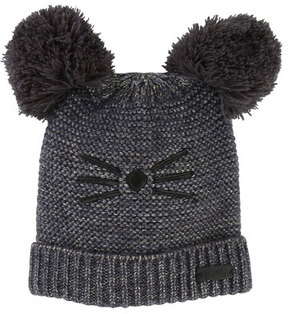 Karl Lagerfeld Kids' Knit Hat w/ Pompoms