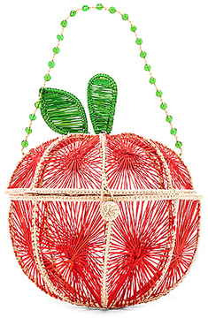 Mercedes Salazar Apple Bag in Red.