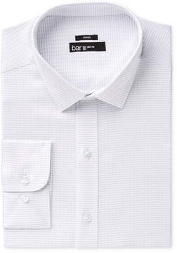Bar III Men's Slim-Fit Performance Stretch Easy-Care Bold Texture Stripe Dress Shirt, Created for Macy's