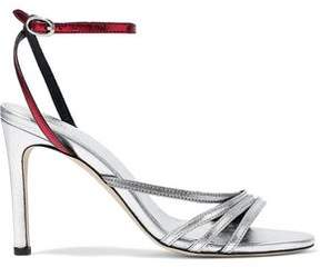 IRO Metallic Two-Tone Leather Sandals