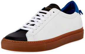 Givenchy Men's Urban Knot Colorblock Leather Low-Top Sneaker, White/Black