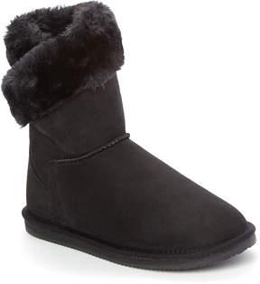 Lamo Black Faux Fur Wrap Boot - Women