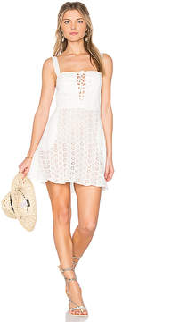 Flynn Skye Leila Lace Up Mini Dress