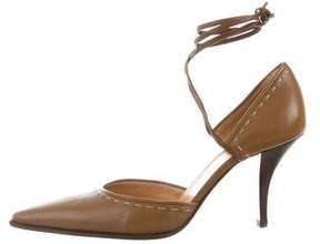 Hermes Leather Pointed-Toe Pumps