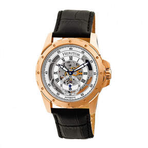 Heritor Armstrong Mens Black Strap Watch-Herhr3405