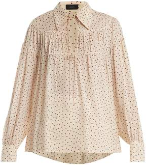 Joseph Crosby heart-print silk-chiffon blouse