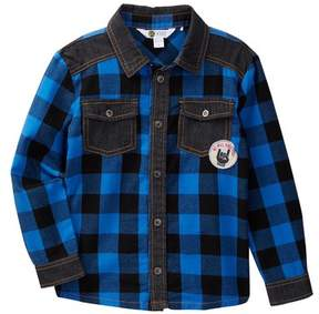 Petit Lem Long Sleeve Woven Shirt (Toddler & Little Boys)