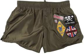 DSQUARED2 Patches Nylon Swim Shorts