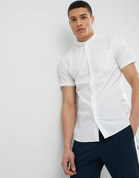 Selected Short Sleeve Grandad Collar Shirt