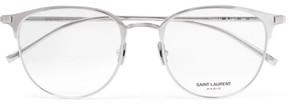 Saint Laurent Round-Frame Titanium Optical Glasses