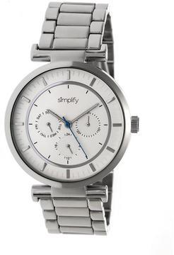 Simplify The 4800 SIM4801 Silver Analog Watch