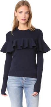 Apiece Apart Knit Ruffle Sweater