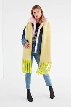 Urban Outfitters Nubby Contrast Fringe Woven Scarf