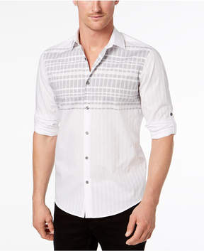 Alfani Men's Linear Stripe Shirt, Created for Macy's