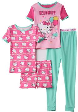 Hello Kitty Girls 4-10 4-pc. Balloon Pajama Set