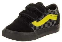 Vans Toddlers Old Skool V (checkerboard) Skate Shoe.