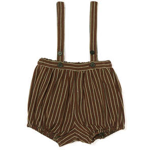 Caramel Wilton Striped Bloomers With Braces
