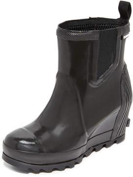 Sorel Joan Rain Wedge Chelsea Gloss Rain Booties