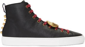 Gucci Black Major Logo High-Top Sneakers