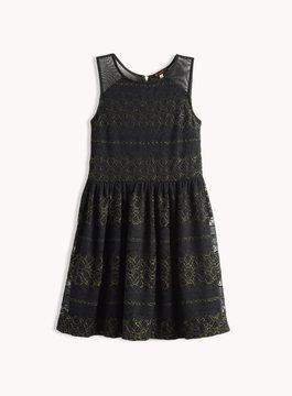 Ella Moss Girl Isla Lace Fit N Flare Dress